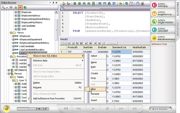 Database tool demo