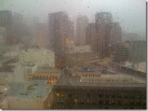 A rainy day in San Francisco