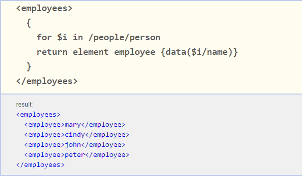 Constructor example from Altova Online XQuery Training