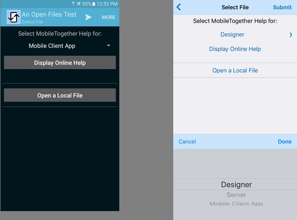 Cross-platform Example for Opening URLs and Documents within a Mobile App