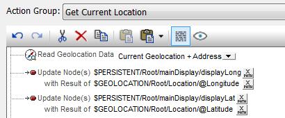 MobileTogether Get Location Action Group