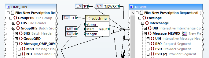 Data mapping HL7 to NCPDP SCRIPT