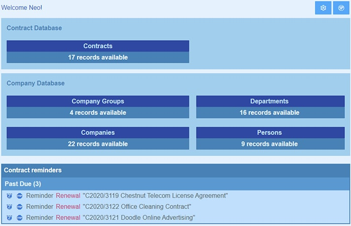 Track contract deadlines with Altova ContractManager