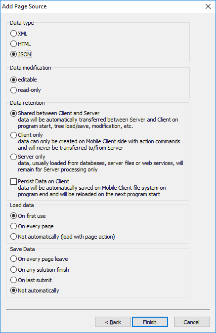Support for JSON5 in MobileTogether