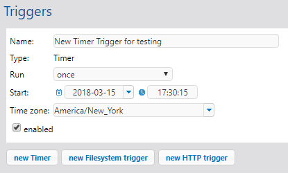 MobileTogether service trigger for testing