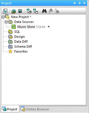 DatabaseSpy Project Window