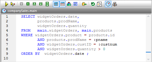SQL queries with parameters are flexible and efficient