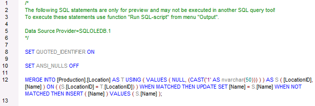 Completed Update-If Action in MapForce Supports SQL Merge
