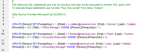 MapForce Script for a Database that Does Not Support SQL Merge