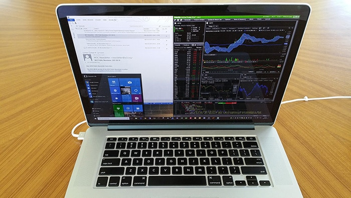 Windows 10 on MacBook Pro with many apps
