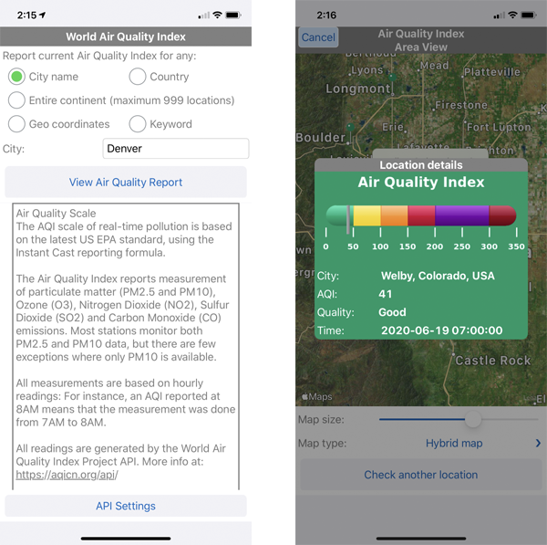 A mobile app to report air quality index readings, written by a citizen developer