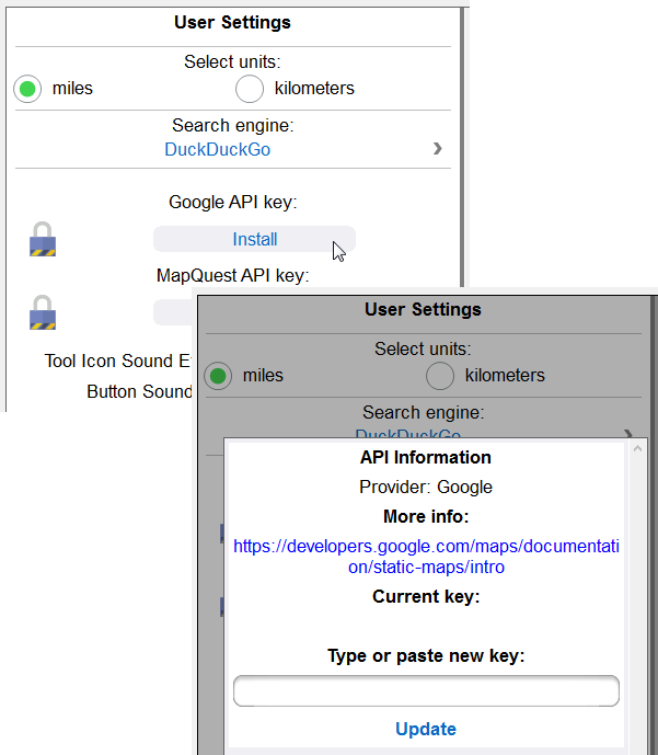 Capturing a unique user API key in the MobileTogether app