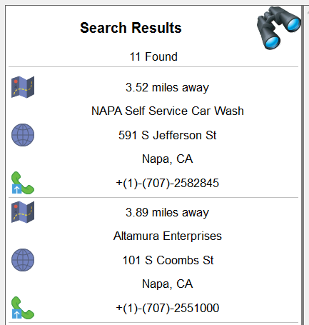 User view of the retrieved data in the MobileTogether app