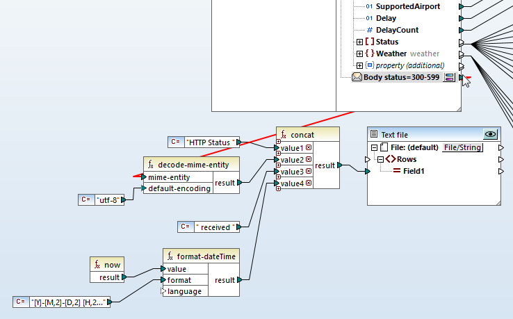 Handling HTTP errors in a REST web service data mapping