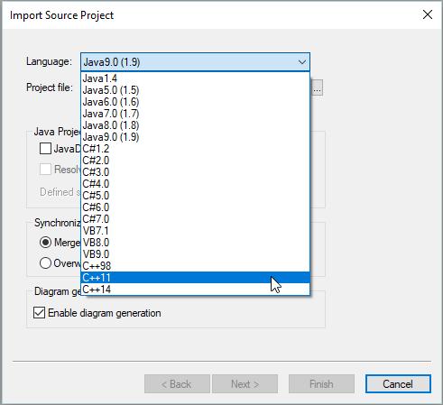 C++ code from UML