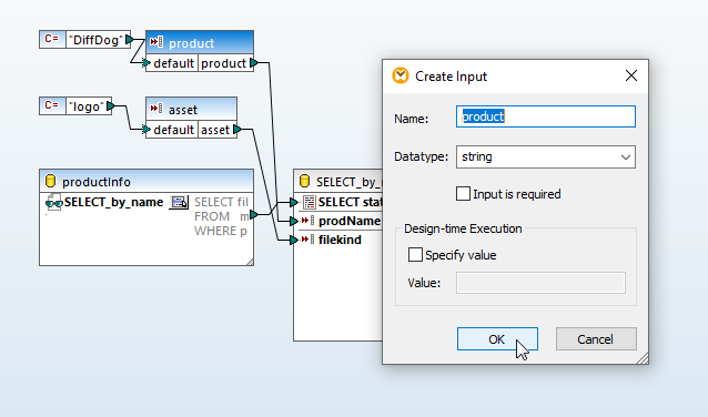 Adding default values for the query parameters