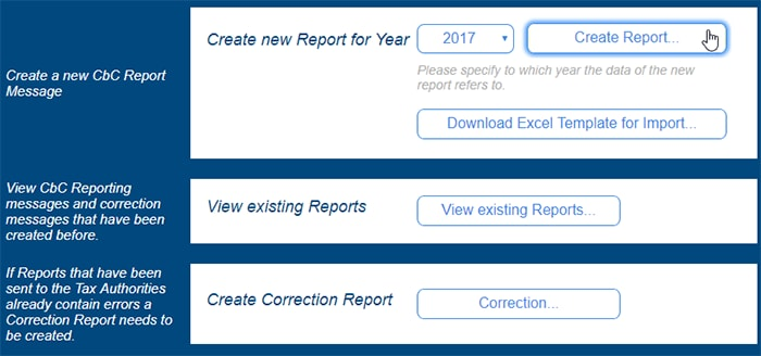 Create CbC XML report
