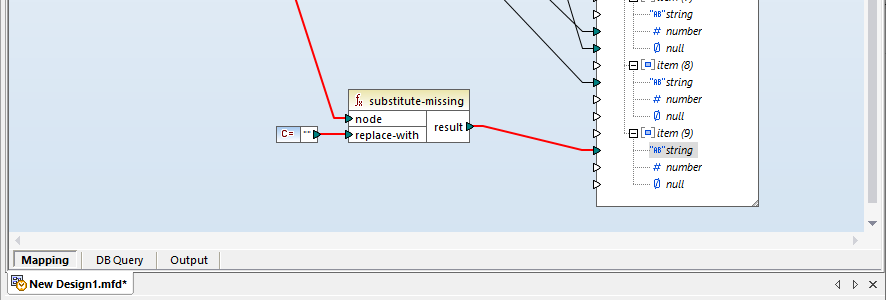 Mapping a null to an empty string