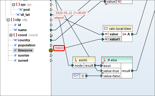 Data mapping execution pauses at the breakpoint