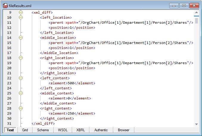 DiffDog Server file comparison diff results