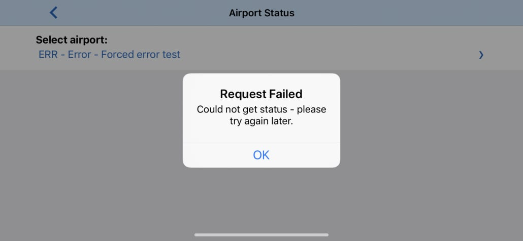 Web service error handling in mobile apps