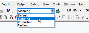 Selecting a global resources configuration