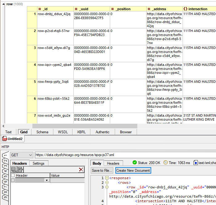 HTTP response in Grid View