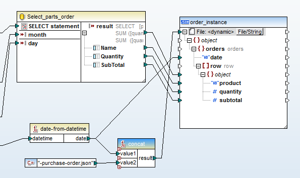 Creating a dynamic output file for a MapForce Server Use Case