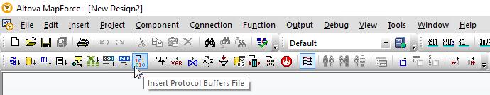 Data mapping protocol buffers in Altova MapForce
