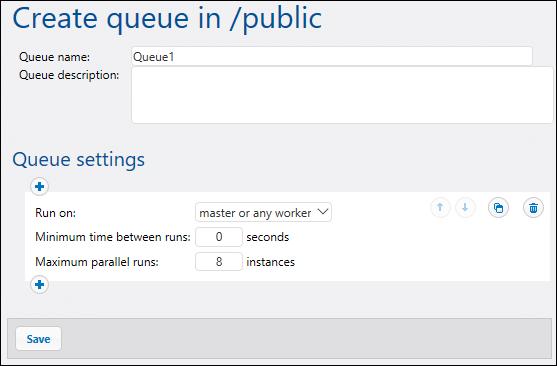 Create a workflow distribution queue for FlowForce jobs