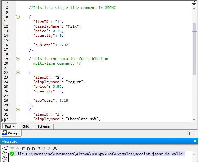 How to comment in JSON