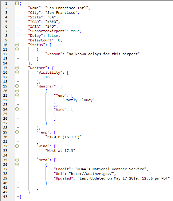JSON file output from example mapping