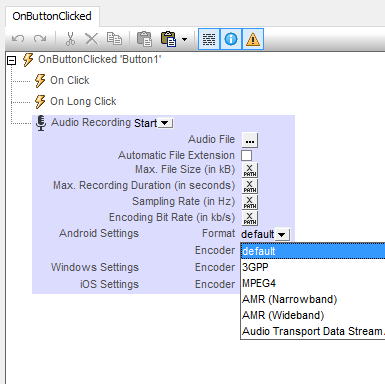 Audio recording featrues for cross-platform mobile apps
