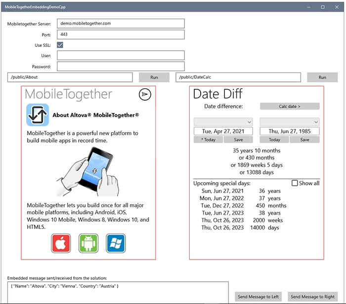 Add MobileTogether solutions to your UWP apps