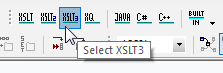 Selecting the processing engine for data mapping with XSLT3