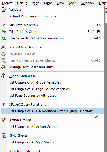 Maintaining low code apps by listing all usages of user-defined functions and action groups.