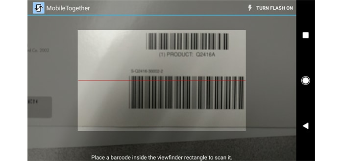 Scanning a barcode with an Android app