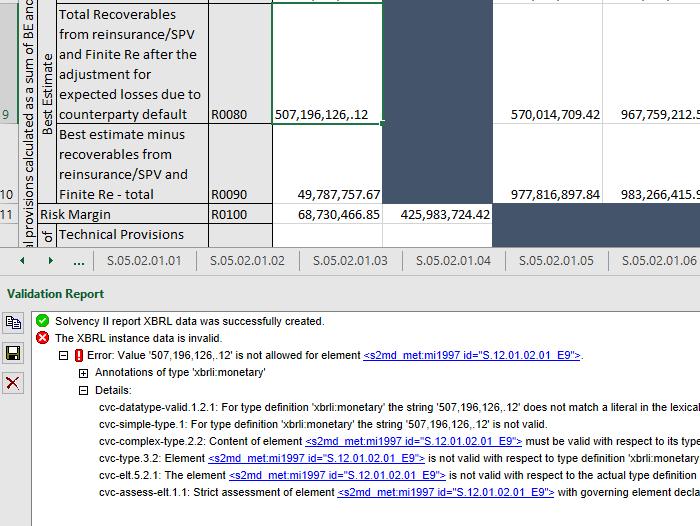 Validate Solvency II XBRL data