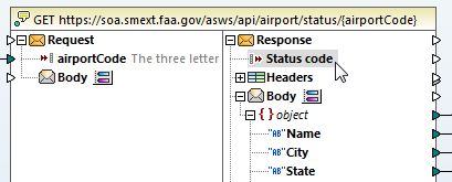 Handle HTTP errors by mapping the status code from the response