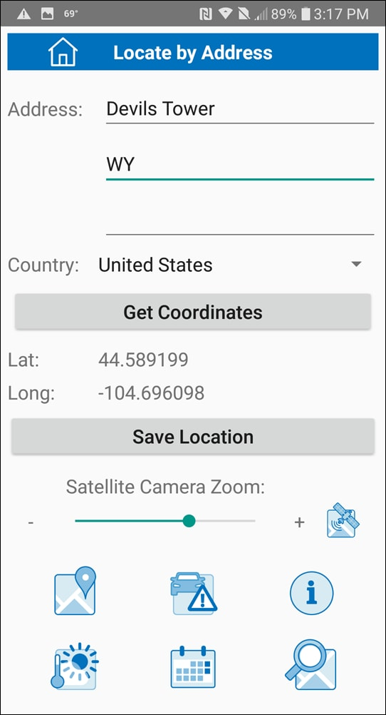 Images as tool buttons in a mobile app.
