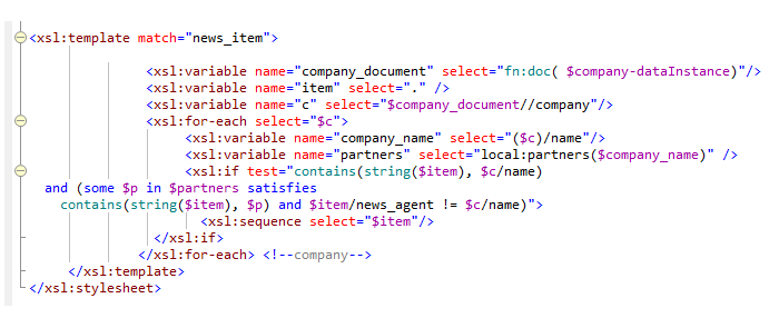 XPath syntax coloring in XSLT