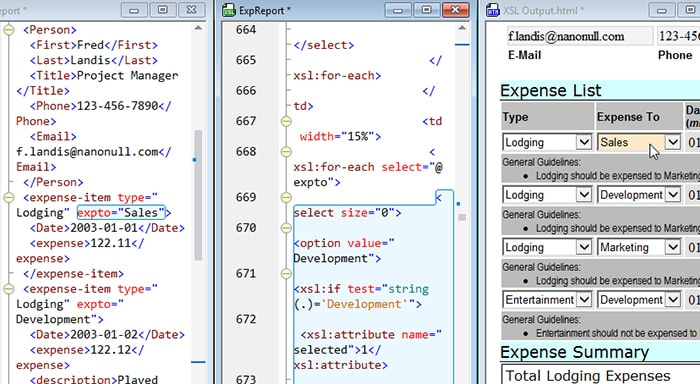 XSLT Back-mapping