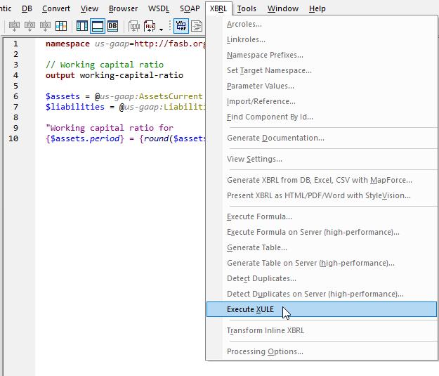 XULE processor in XMLSpy