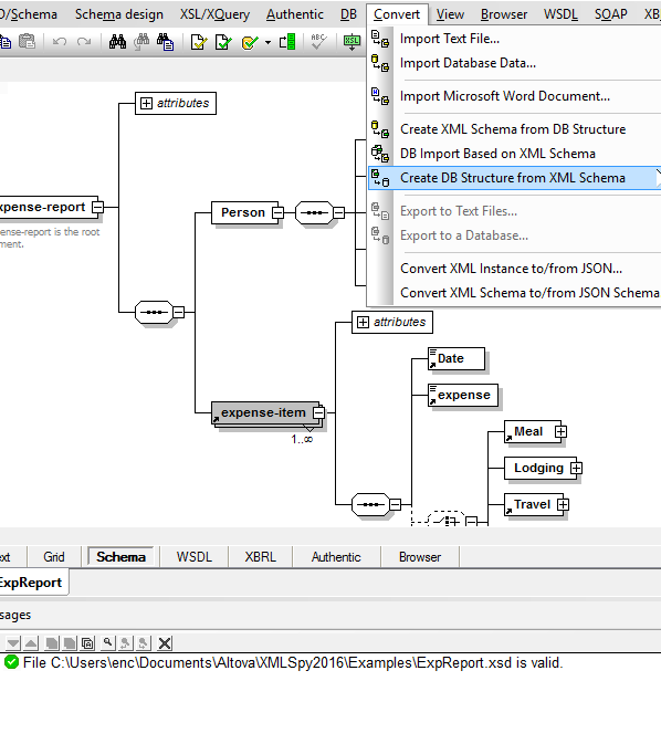 schema or db schema generate sample xml instances based on an xsd and so on you can also utilize mapforce to convert between xsd and any other type - Db Schema Design Tool