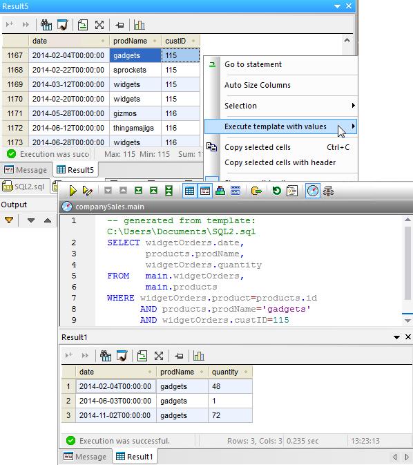 Databasespy multi database tool for Html table parameters