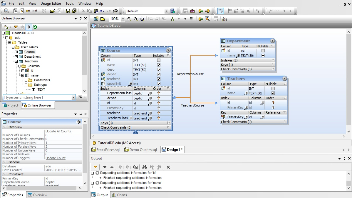 DatabaseSpy Graphical Database Design Tool