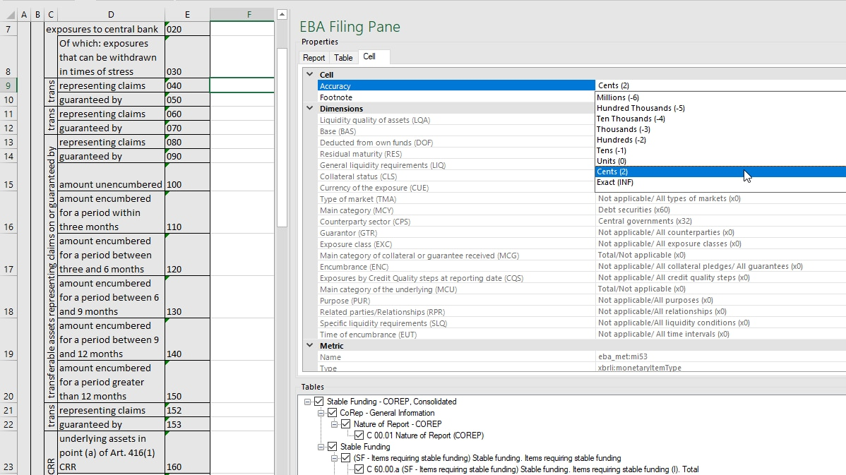 EBA XBRL reporting is made easy with this friendly Excel template