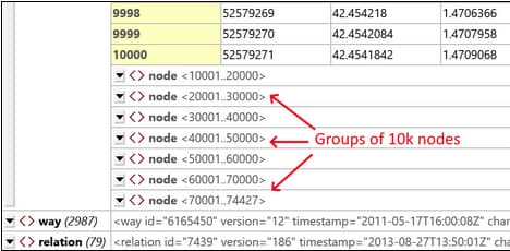Grouping nodes in a large JSON file