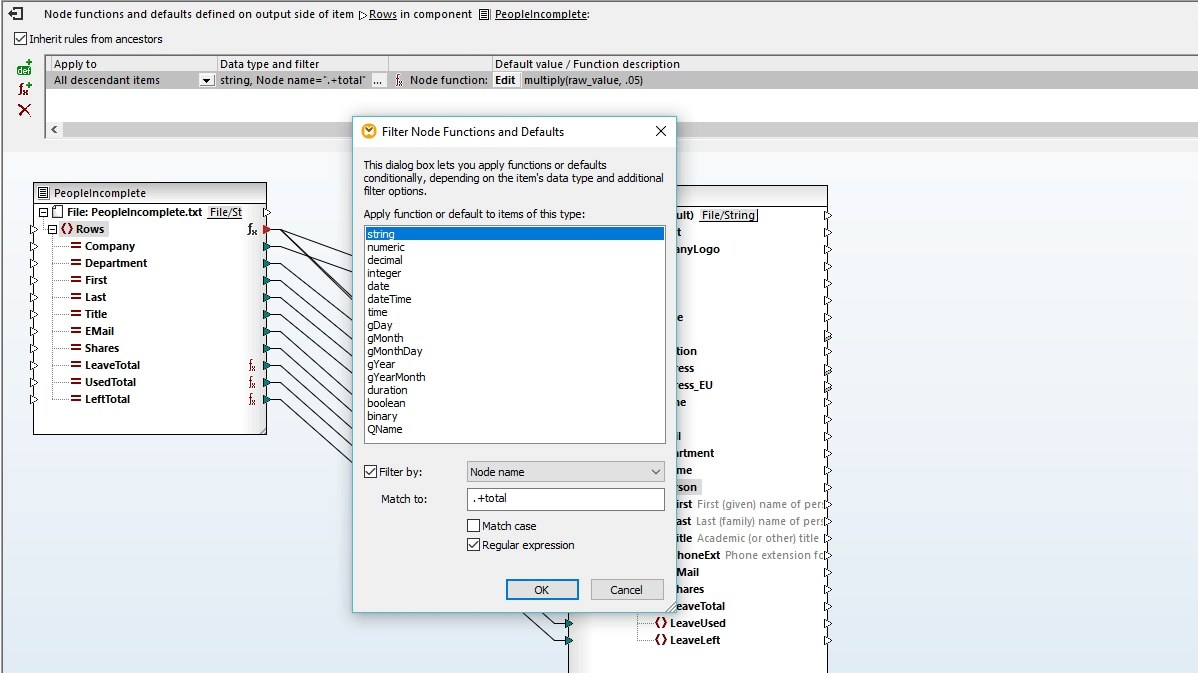 Whats New In Mapforce Altova Description Of Function Node Filters