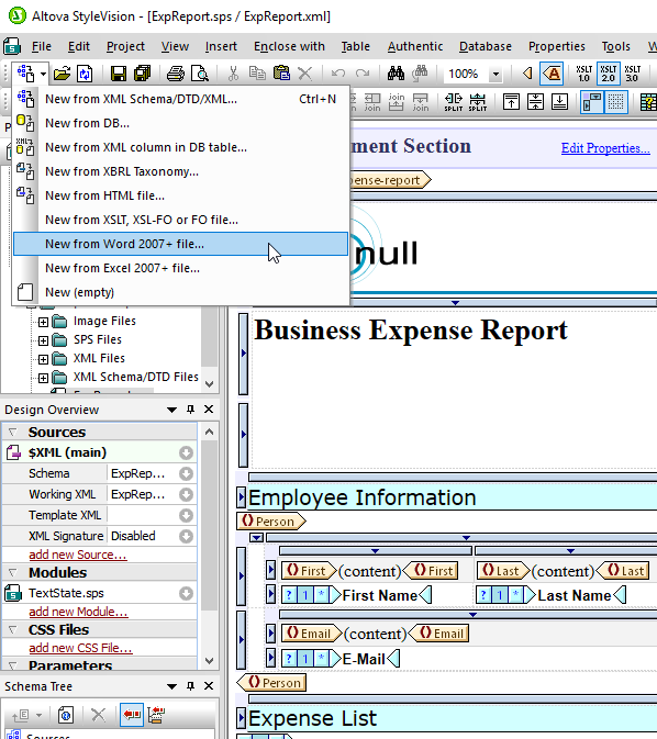 Advanced Stylesheet and multi-channel report design in